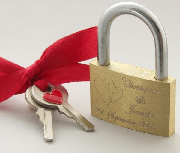 Personalized Magical Love Lock Perfect Wedding Or By