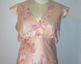 Vintage 40's Silk NIGHTGOWN