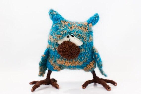 SALE 25% OFF Blue Owl - unique toy