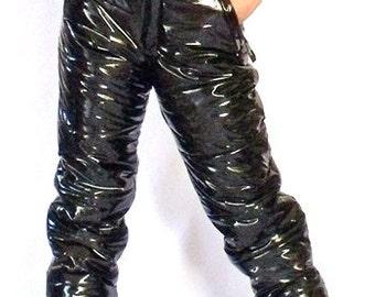 Monte Vista shiny vinyl down pants