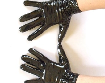 4-way stretch vinyl short gloves