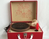 Red Phonola Melodier 45 Record Player