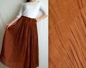 Desert Brown Long Full Skirt