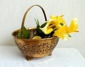 Brass Indian Basket