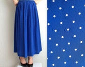 Blue & White Polka Dotted Skirt