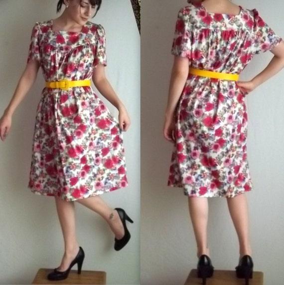 Pink Flowery Spring Dress