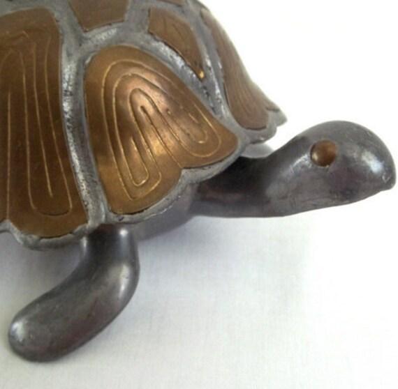 Brass Turtle Jewelry Box