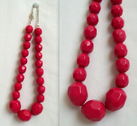 Pink Plastic Rock Necklace