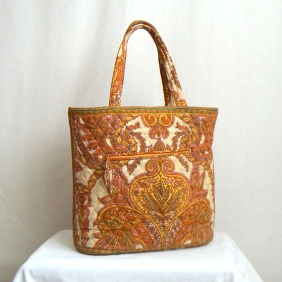 French Paisley Yellow Tote