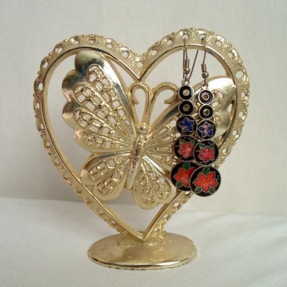 Butterfly Heart Earring Stand
