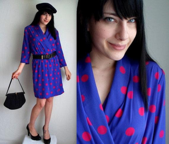 Pink & Purple Polka Dotted Dress
