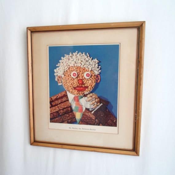 Mr Beeler, the Between Mealer 1940's Framed Advertisement