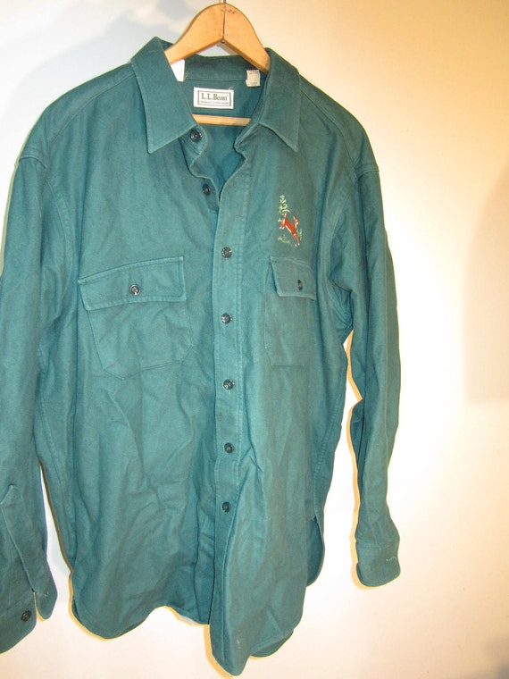 Mens xl vintage ll bean flannel chamois shirt by westofchelsea for Mens xl flannel shirts
