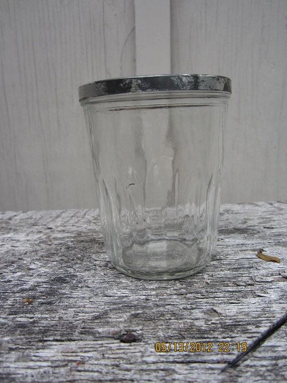 Vintage Very Old Half Pint Jelly Canning Jar Ball