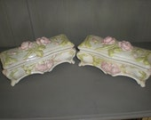 Creek Turn Pottery Trinket Boxes Signed