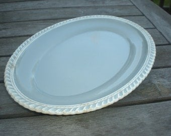 Grey - Blue and White Pate sur Pate Harker Ware Platter