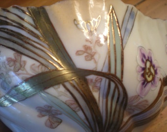 Porcelain Floral Gilt Decorated Bowl
