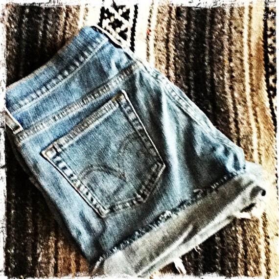 Cut off Original Levi's blue jean shorts size medium