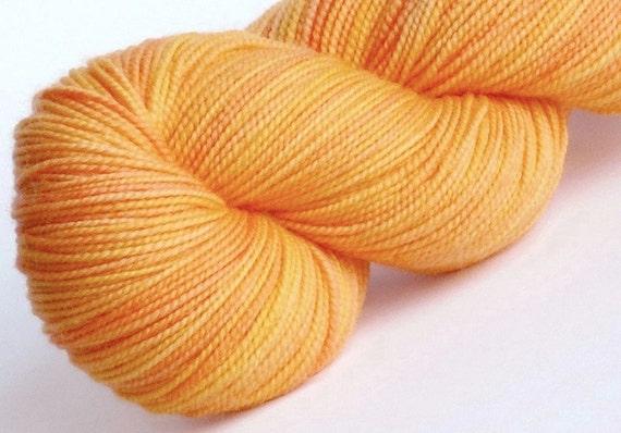 Sock Yarn Calendula 100% superwash merino hand dyed sock weight yarn