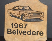 Classic Car Hand Engraved Stone Marker - any make, model and year