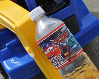 Disney Cars Water Bottle Label 24ct