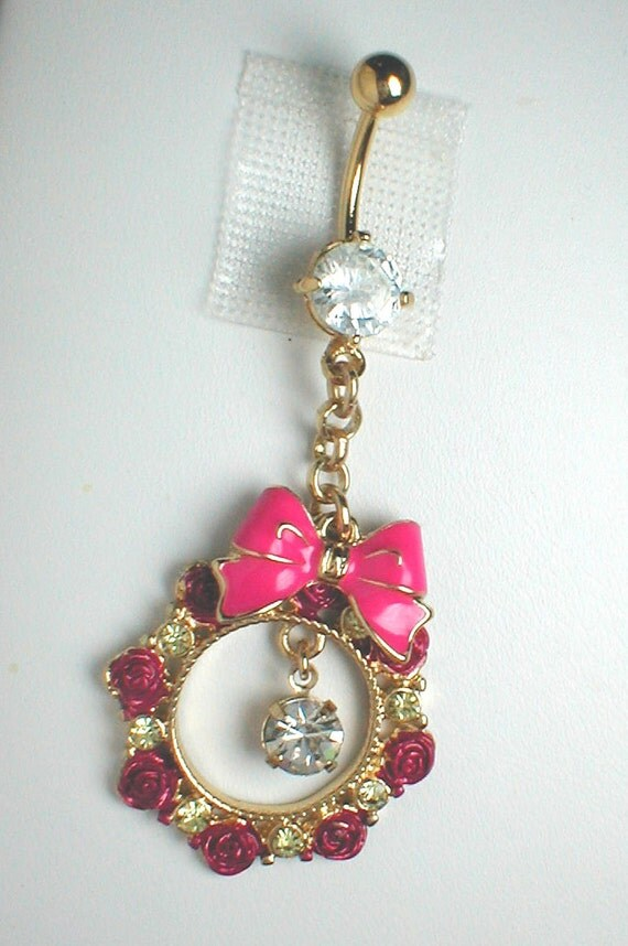 Unique Belly Ring - Trendy Authentic Ring of Roses