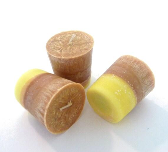 3 Satsuma Citrus Votive Candles