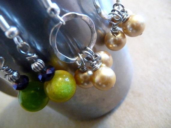 Set of 5  Pairs Handmade Earrings in a Gift Bag