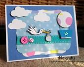 Baby Stork Card - FREE SHIPPING
