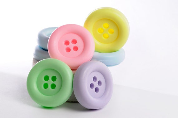 Custom order for  Angie - 25 - Cute as a button - Baby shower soaps
