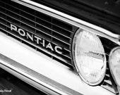 Pontiac grill, black and white fine art photograph 5x7
