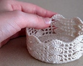 Reserved Listing - Lace Bowl Neutral 6""
