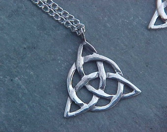 Celtic Knot TRIQUETRA small Pendant KAM Copyrighted Custom Design In Sterling Silver