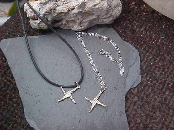 St BRIGiD or St BRIDGIT Irish cross pendant cast in Sterling Silver KAM Copyrighted Design