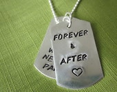 Customized Dog Tags on Ball Chain Necklace in Sterling Silver, Hip and Cool with Your Special Message