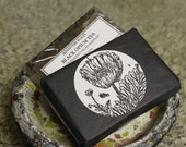 ON SALE Exfoliating Black Opium Tea Soap with Lapsang and Poppy Seeds