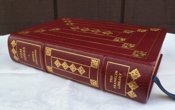 Tom Jones by Henry Fielding. Leather-Bound Book. The Franklin Library. Vintage 1978.