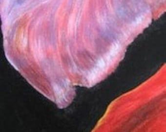 Two Petals Original Acrylic Painting (SALE)