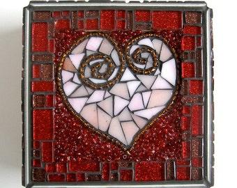 A Big Heart Valentine's Mosaic Jewelry Box
