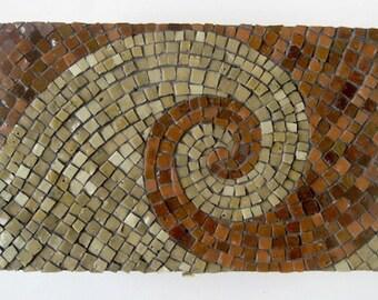 Spiral Brown Mosaic Panel Wall Decor