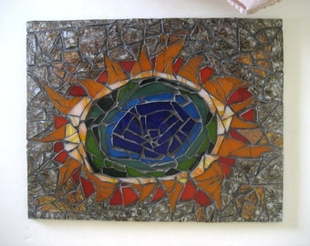 Hot Spring Mosaic Wall or Window Art