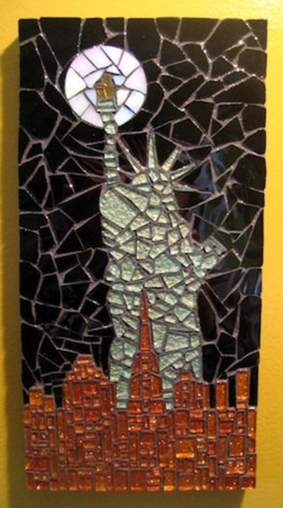 Statue Of Liberty At Night Mosaic Art