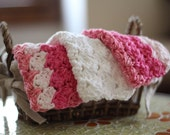 SALE Crocheted Cotton Washcloths Cotton Candy Set