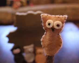 CLEARANCE Owl Finger Puppets Desert Owls Set