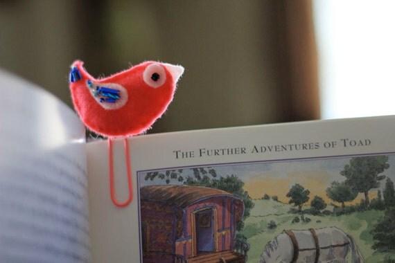 Bird Felt Bookmark Paperclip