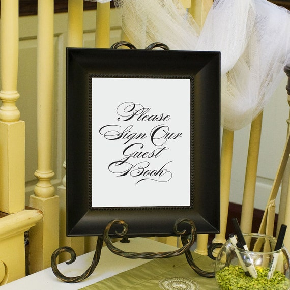 wedding guest book sign guestbook sign 8x10 by edenweddingstudio