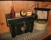 Primitive Miniature Dry Sink