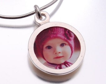 Personalized Photo Charm -  Circle