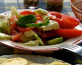 Greek Salad Seasoning: Extra virgin olive oil, red wine vinegar and a mix of crystalline sea salt with oreganon.