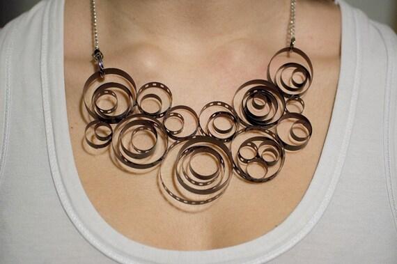 Cloud film necklace
